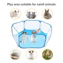Tragbare Kleine Haustier Käfig Zelt Laufstall Atmungs Kleine Tiere Faltung Zaun Für Hamster Igel Welpen Katze Kaninchen Guinea Schwein