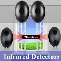 2pcs automated gate safe infrared detector sensor swing slidinggarage gate door safety single beam infrared alarm security