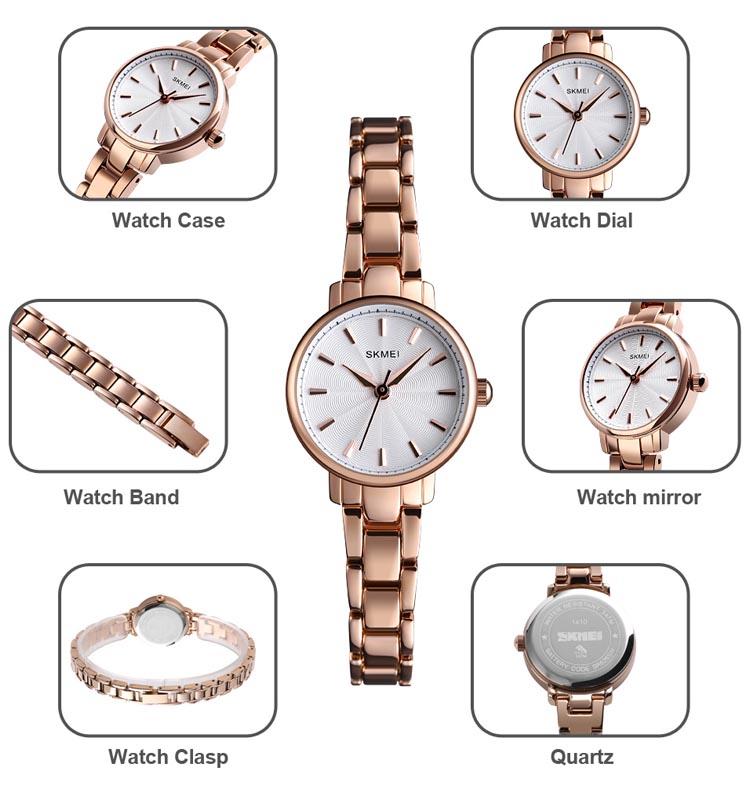 SKMEI Ladies Quartz Watch 2020 Top Brand Luxury Stainless Steel Female Wristwatches Women Clock Watches Relogio Feminino 1410 enlarge