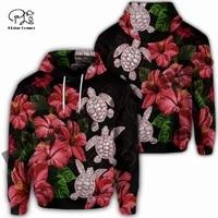 plstar cosmos 3dprint newest tribe polynesian hibiscus turtle funny unique harajuku streetwear unisex hoodiesweatshirtzip w 12