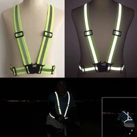 reflective straps night running riding clothing vest adjustable safety vest elastic band for adults and children