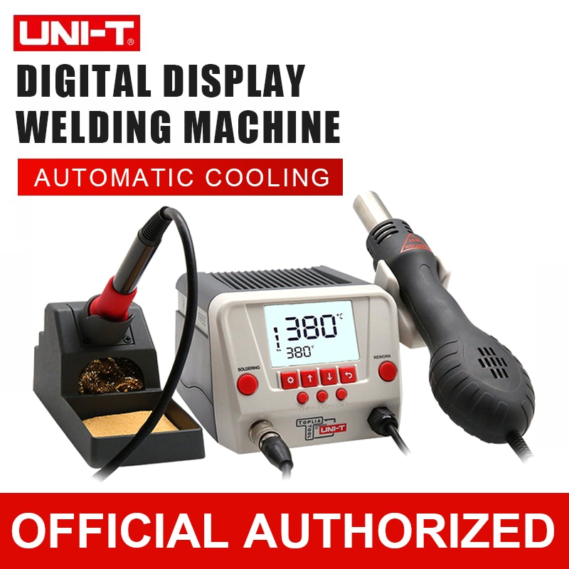 Welding Machine 60w - 90w Soldering Station Adjustable Electric Iron Steel LCD Display Constant Temperature With Hot Air Gun adjustable temperature welding station quick ts1100 90w electric soldering iron lcd digital display lead free station