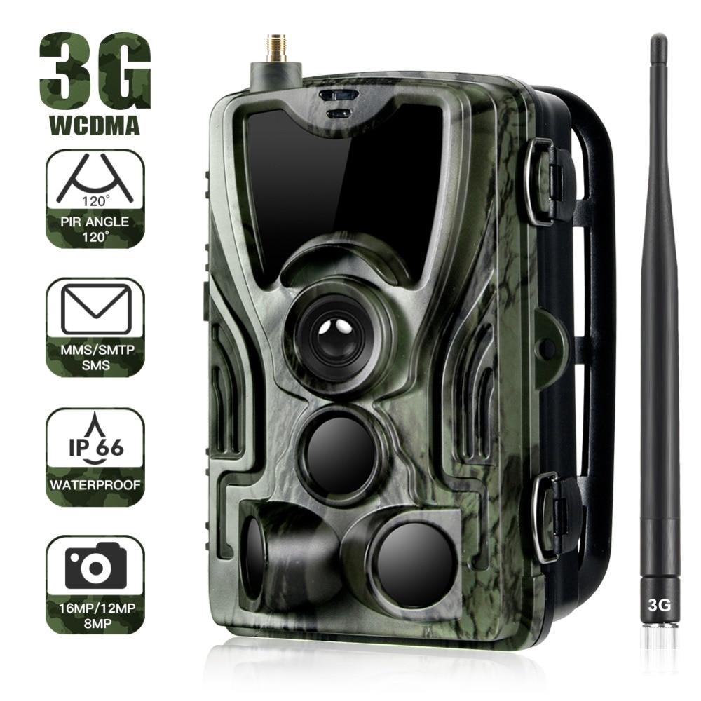 HC-801G 3G Traps Hunting Camera 16MP Trail HD Camera SMS/MMS/SMTP IP66 Photo 0.3s Trigger Time 940nm LEDs Wild Cameras недорого