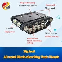 full metal tracked tank chassis ts900 intelligent robot trolley heavy load big power 12v high torque motor car chassis