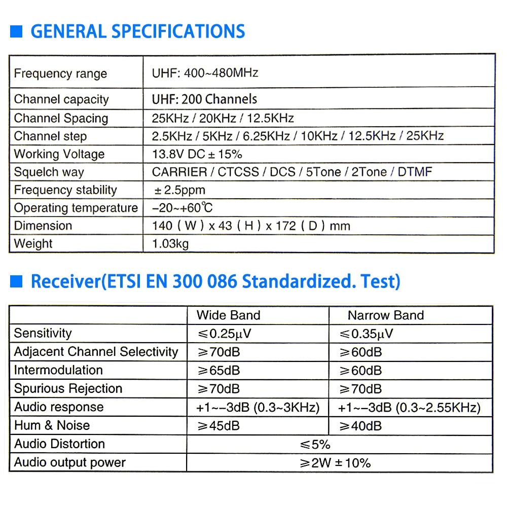 QYT KT-780PLUS 75W UHF(400-480MHz)Or 100W VHF(136-174MHz) Walkie Talkie / Ham Mobile Radio Transceiver DTMF Car Radio enlarge