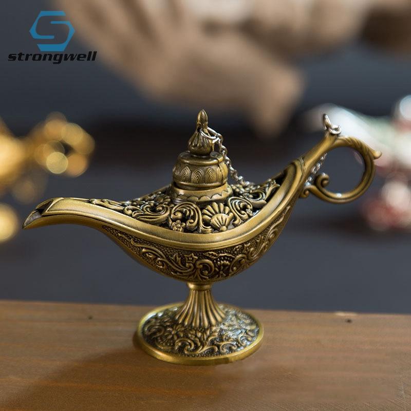 Fort bien-lampe Aladin traditionnelle ajouré   Conte de fées, lampe magique théière lampe Genie, jouet rétro Vintage pour décoration de maison