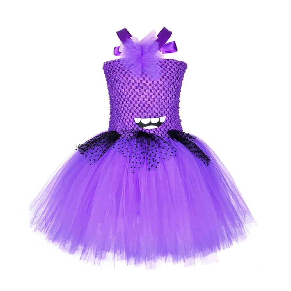 ملابس للبنات زي تنورة مهرجان فساتين للأطفال حفلة هالوين توتو Espanol غريب قزم البنفسجي الأميرة شبكة M151