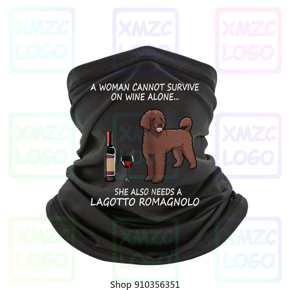 Uma mulher não pode sobreviver no vinho sozinho ela também precisa de um lagotto romagnolo bandana bandana lenço pescoço mais quente