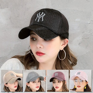New Spring And Summer MY Cap Korean Men'S Sequined Letters Baseball Cap Ladies Outdoor Sports Sunshade Sunscreen Cap