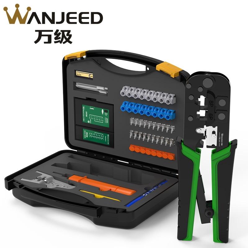 WANJEED Network TooKit-مكشكش الأسلاك ، قاطع كابل lan ، مجموعة أدوات التثبيت