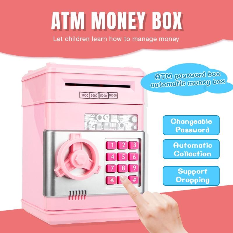 Электронный Копилка сейф копилка для детей Цифровые Монеты экономия денег Сейф Банкомат машина подарок на день рождения детей