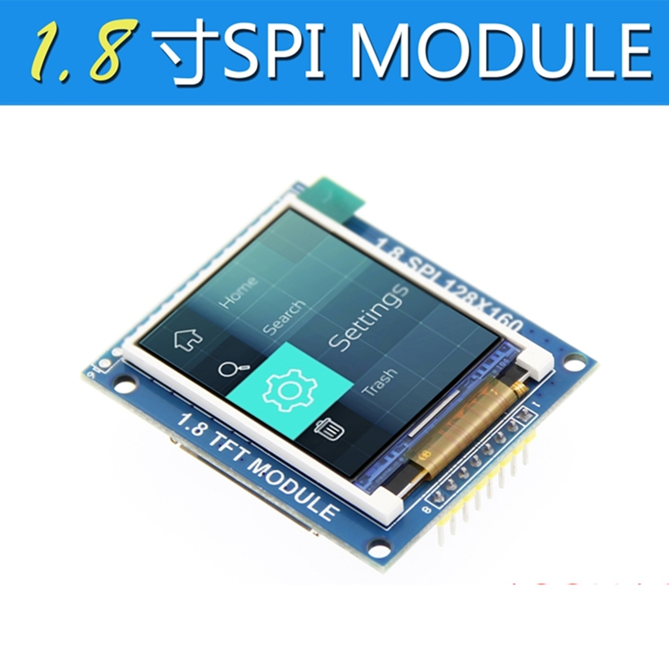1,8 inch TFT LCD modul LCD screen modul ST7735 SPI serie 51 fahrer 4 IO fahrer TFT auflösung 128*160