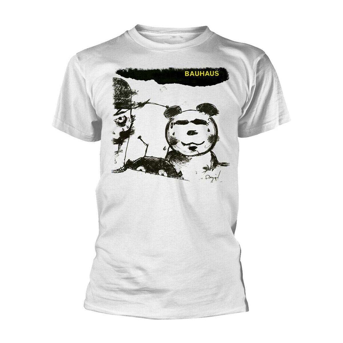 Camiseta oficial para hombre con máscara Bauhaus blanca Unisex