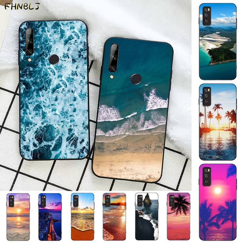 FHNBLJ océano playa cubierta de la caja del teléfono para Huawei Honor 8x9 10 20 V 30 pro 10 20 lite ver 7A 9lite jugar caso