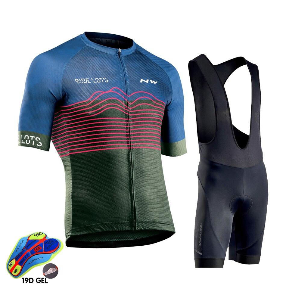 2020 NW ciclismo Jersey hombres manga corta ropa ciclismo verano hombre ropa de ciclismo pantalones cortos conjunto triatlón Lotto equipo ciclismo ropa