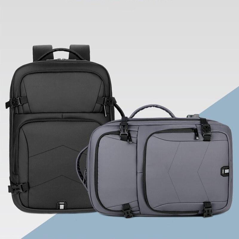 2021 رجل حقيبة الظهر الأعمال USB شحن الظهر الذكور متعددة الوظائف مقاوم للماء فيلم حقائب ظهر عادية للرجل
