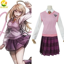 Jeu nouveau Danganronpa V3 Akamatsu Kaede Cosplay Costume JK uniforme scolaire Halloween femmes vêtements chemise gilet jupe cravate bas