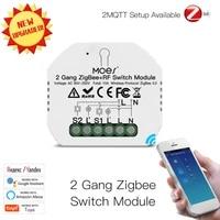 1 2 Gang Tuya ZigBee Smart Light Switch Automation Modules Zigbee RF Switch Module Remote Smart Home Works With Google Alexa
