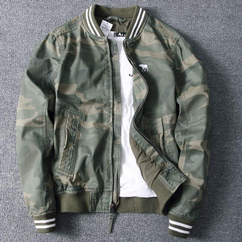 Nuevas chaquetas y abrigos de camuflaje primavera exterior Streetwear nombre marca ejército estilo Chaquetas Chaqueta de algodón de béisbol masculino B698