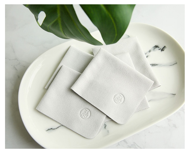 1 Pcs High Quality Pure Gray Suede Glasses Microfiber Glasses Cleaning Cloth 15*18cm For Lens Phone