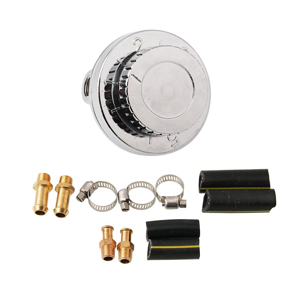 Fuel Pressure Regulator Kit Universal Metal Fuel Pressure Regulator Adjustable For Carburetor Engine