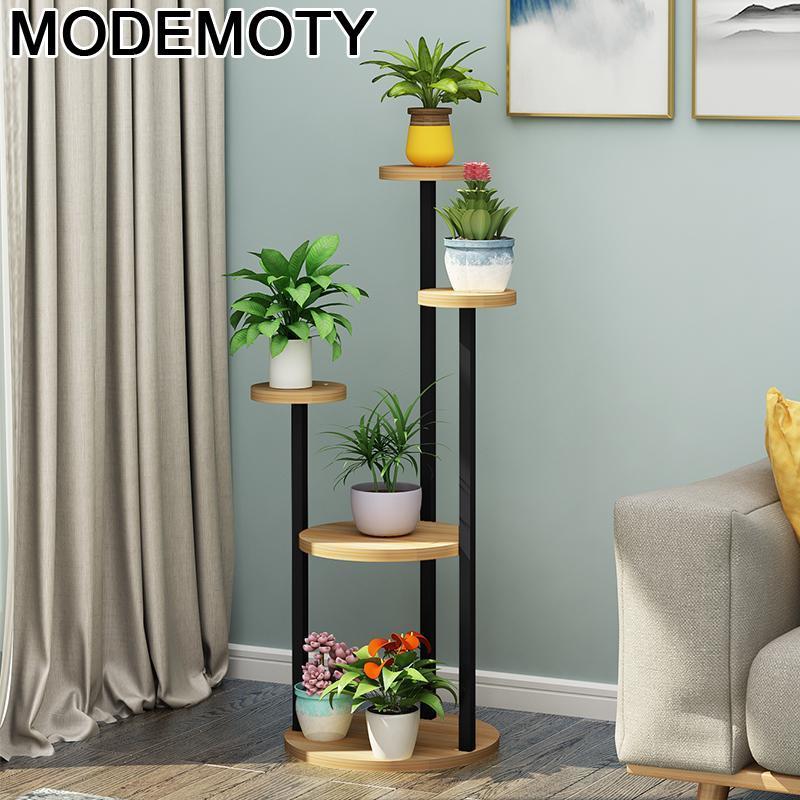 Room Wooden Shelves Wood For Estanteria Escalera Table Indoor Plant Rack Outdoor Stojak Na Kwiaty Balcony Shelf Flower Stand