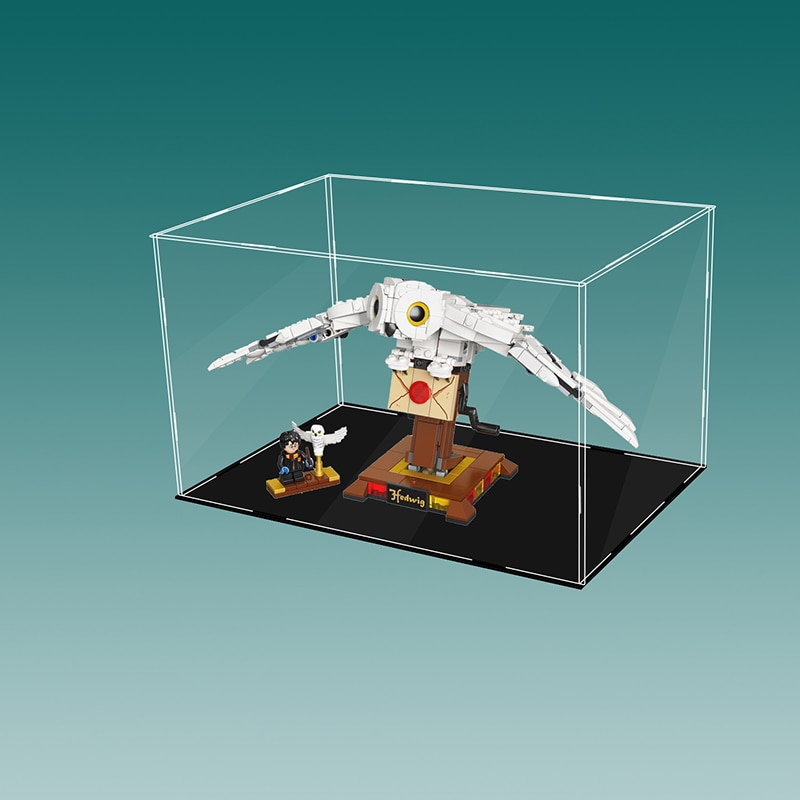 الاكريليك سيارة عرض الحال بالنسبة Lego75979 Hedwig اللبنات شفافة لعبة عرض صندوق عرض (لا يتم تضمين نموذج))