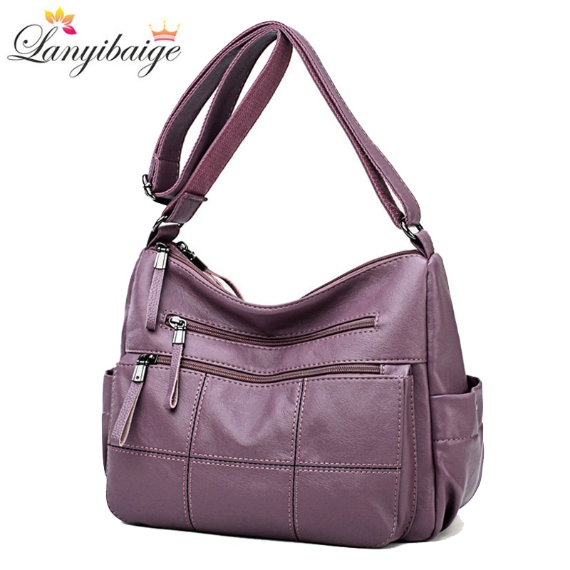 Designer Luxury Ladies Handbags Female Crossbody Bags for Women 2020 Soft Leather Shoulder Messenger Bags for Lady Sac A Main