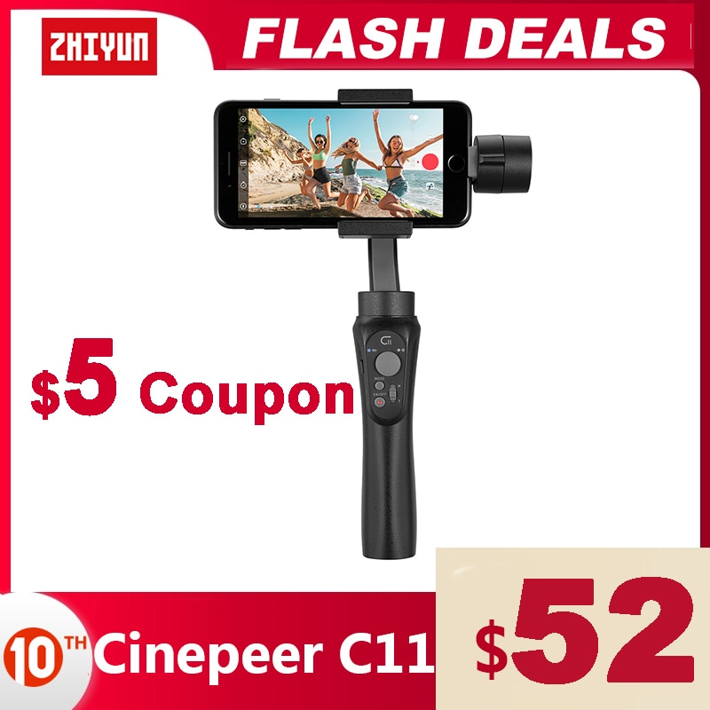 AliExpress - ZHIYUN  Official CINEPEER C11 3-Axis Phone Gimbal Handheld Stabilizers Vlog Smartphone for iPhone 11 12 XS Huawei Xiaomi Samsung