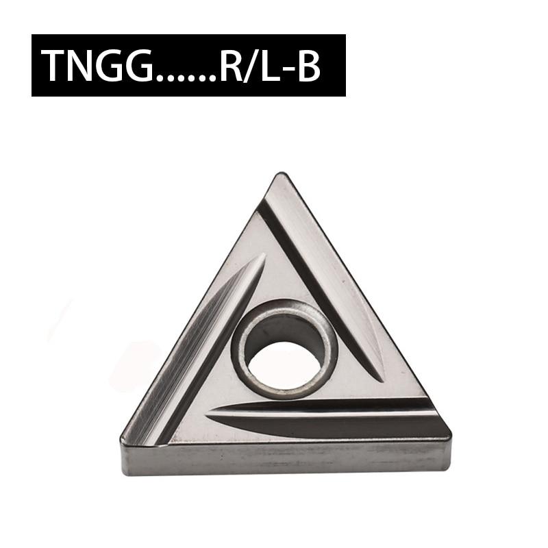 TNGG الأصلي إدراج لتحويل التشطيب-متوسطة TNGG160402 R-B L-B TNGG160404L TNGG160404R آلة خرط تعمل بالتحكم الرقمي بواسطة الحاسوب حامل أدوات الآلات مجموعة