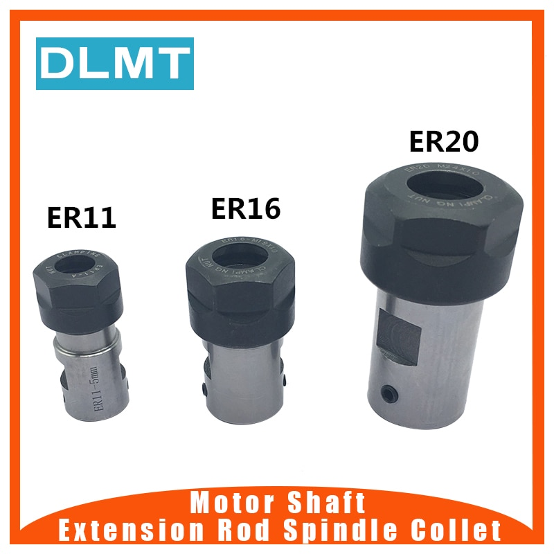 ER20 цанговый патрон мотор вал удлинитель стержень шпиндель цанговый токарный станок Инструменты держатель Внутренний 8 мм 10 мм 12 мм 14 мм 16 мм фрезерные расточные