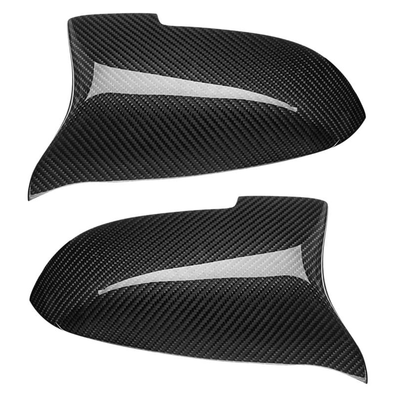 Cubierta de espejo lateral de fibra de carbono, ajuste de rendimiento M para BMW F10 F07 F06