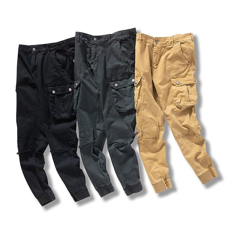 Мужские повседневные брюки хаки, военные тактические джоггеры, брюки-карго, мужские уличные походные тренировочные брюки, мужские хип-хоп ш...