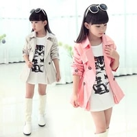 2021 new childrens trench coats spring girls coat korean cotton double breasted windbreaker kids coat autumn clothes