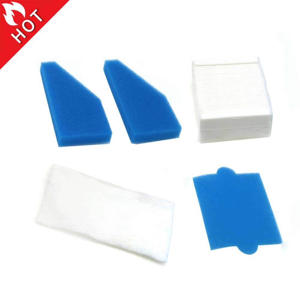 5Pcs/Set HEPA Filter Kit For Thomas Twin Genius 787241 787203 Vacuum cleaner filter spare parts