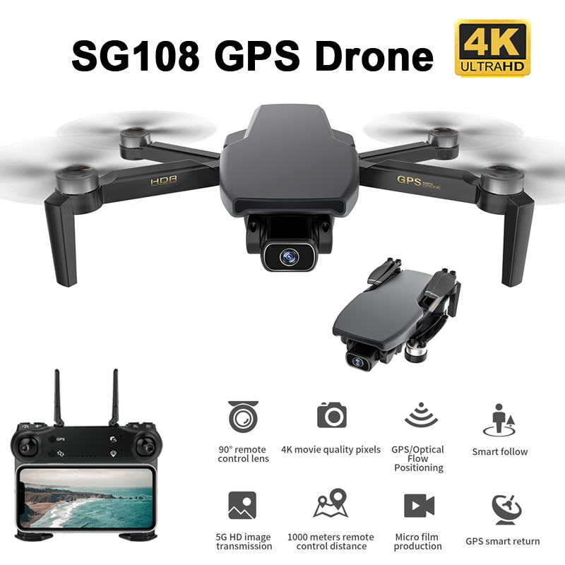 CYMARC SG108 GPS Drone 5G WiFi FPV 4K HD Dual Camera Optical Flow Brushless RC Quadcopter 25 min Flight time Dron VS XS818 EX5