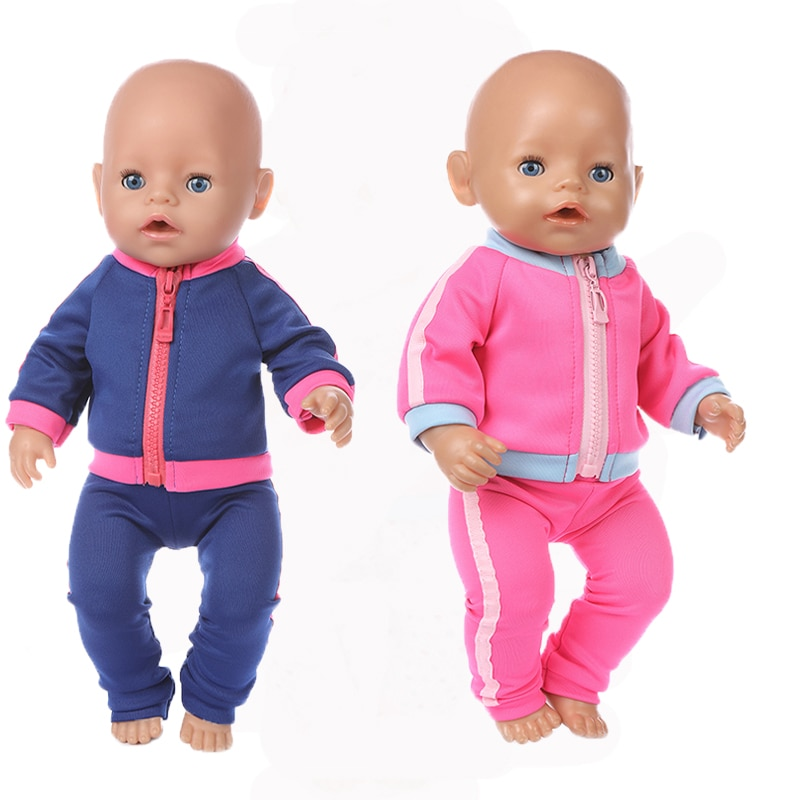 Baby New Born Fit 17 inch 43cm Doll Clothes Accessories Sport New Suit For Baby Birthday Gift