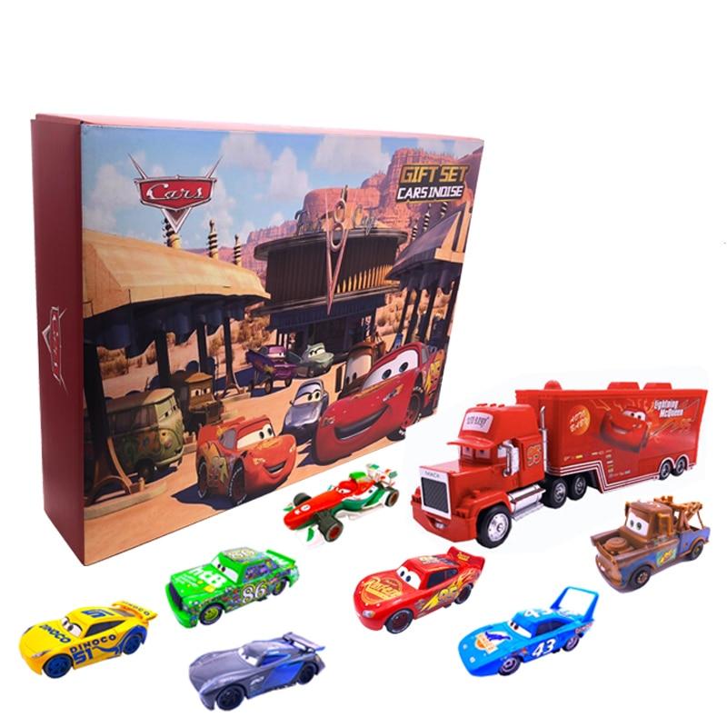 3 Pçs/set 15 Hot Wheels Carro Da Disney Pixar Relâmpago McQueen Jackson Tempestade Tio Mack Truck 155 produtos Automotivos