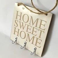 Home Sweet Home  etageres etagere de rangement crochets suspendus support mural support de maison rangement cintre chapeau sac cles porte-collant