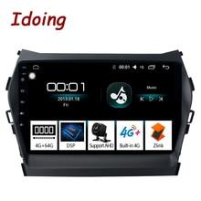 "Idoing 9""Car Android Radio Vedio Multimedia Player 4G+64G Octa Core For Hyundai IX45 2015-2017 Santa Fe 3 Grand NO 2 DIN DVD"