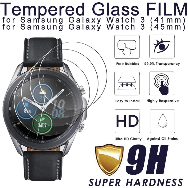 2020 neue Gehärtetem Glas Screen Protector Für Samsung Galaxy Uhr 3 45mm 41mm 9h Schutz Glas Film fit für Galaxy Uhr 3