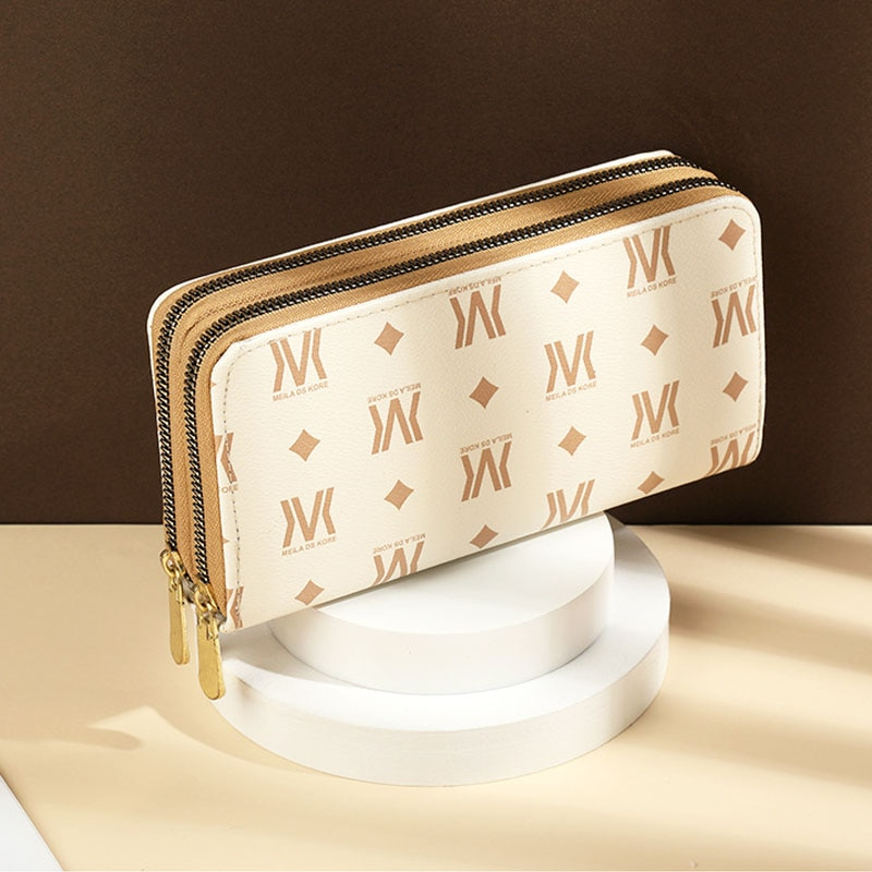 Double Zipper Womens Wallet Long Purse Female Coin Purse Card Holders Clutch For Ladies Fashion Hand