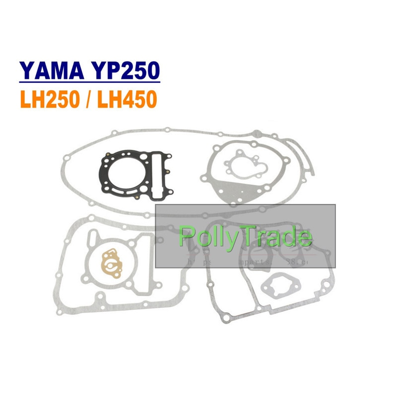 Gasket Repair Kit Water Cooled For YP250 ATV250 LH300 Engine Parts Rebuild Whole set sea and fresh water cooled and heat exchanger for weifang 495 k4100 marine engine boat engine parts