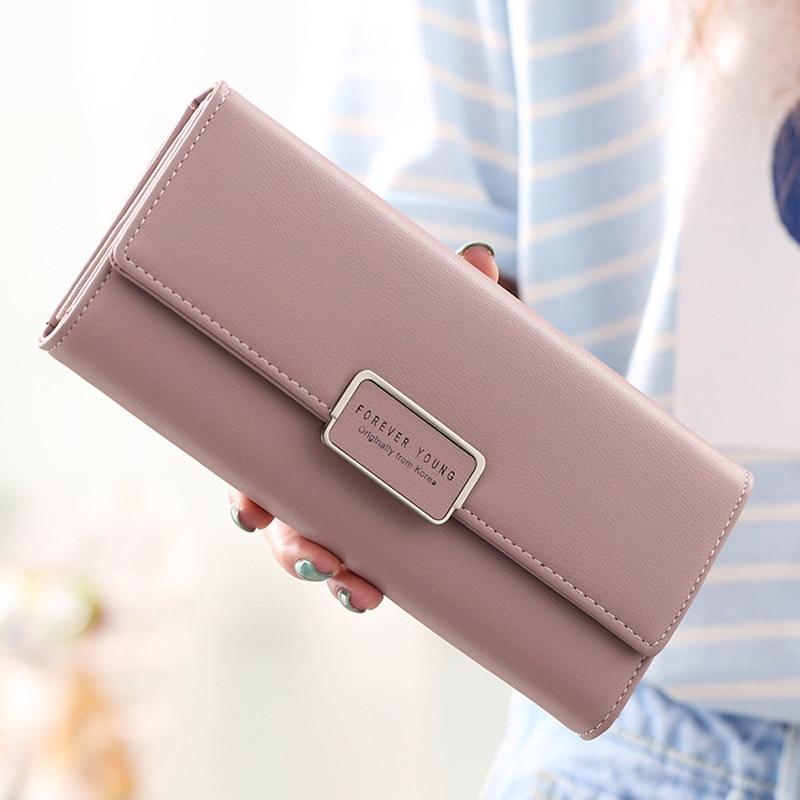 aliwood High Quality 3 Fold Women's Wallet Brand PU Leather Long Purse Clutch Coin Purse Phone Pocke