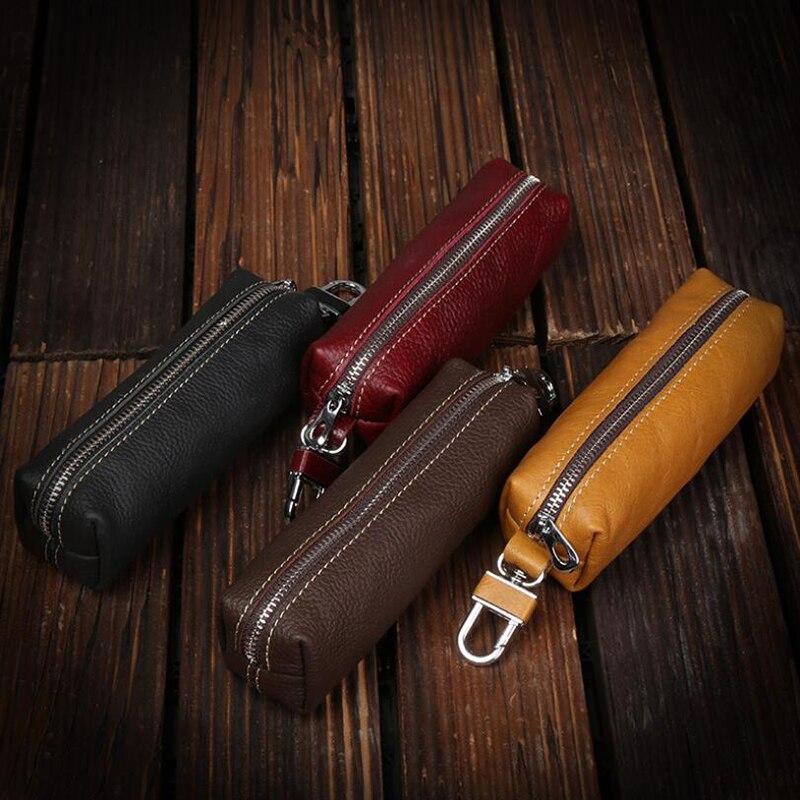 Hot Sale Car Keys Holder Genuine Leather Coin Purse for Men Key Wallets Women Housekeeper Plus Desig