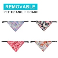 pet dog triangle scarf removable washable adjustable cat decorative collar for small dogs collars dog neckerchief dogs supplies