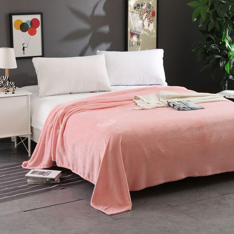 لينة الحرارية المرجان الصوف بطانية الشتاء غطاء سرير المفارش أريكة الركبة بطانية آلة قابل للغسل الفانيلا بطانية البطانيات