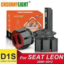 CNSUNNYLIGHT D1S Canbus LED Car Headlight Bulbs 10000Lm 70W/pair Super Lighting Vision For SEAT LEON 1P1 Bi-Beam Automotive Lamp