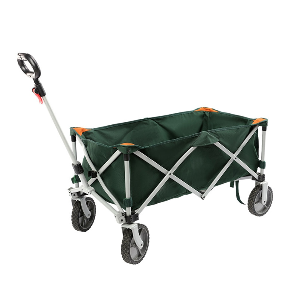 Shopping Sport Camping Wagon Cart Foldable Outdoor Trolley Folding & Rolling Collapsible Garden Cart Swivel Wheels