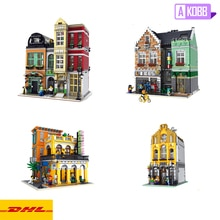 Bloques de juguete streetview modelo 10005 tienda de zapatos 10004 tienda de bicicletas 10003 heladera 10002 Cafe Havana Shining bloques de construcción